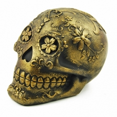 Gold Sugar Skull
