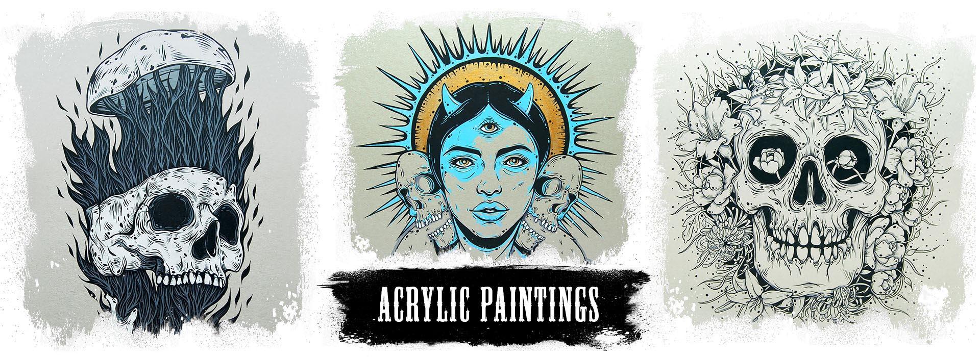 Picturi acrilic Creeps